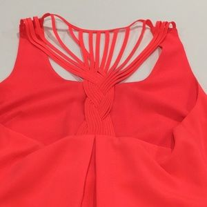 Jessica Simpson Bright Coral Dress